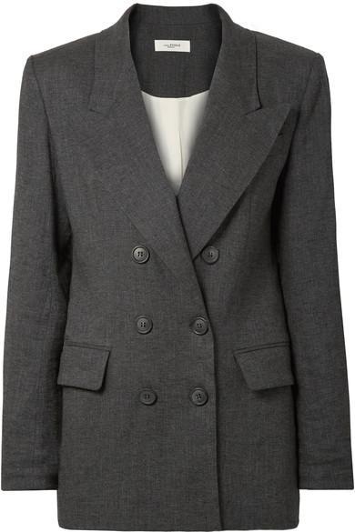 fb1b507eade Etoile Isabel Marant Orka Linen-Blend Blazer In Charcoal | ModeSens