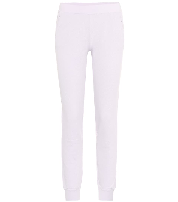 Atm Anthony Thomas Melillo French Cotton-Terry Track Pants In Purple