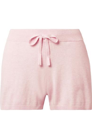 Skin Vic Cotton-Blend Pajama Shorts In Pastel Pink