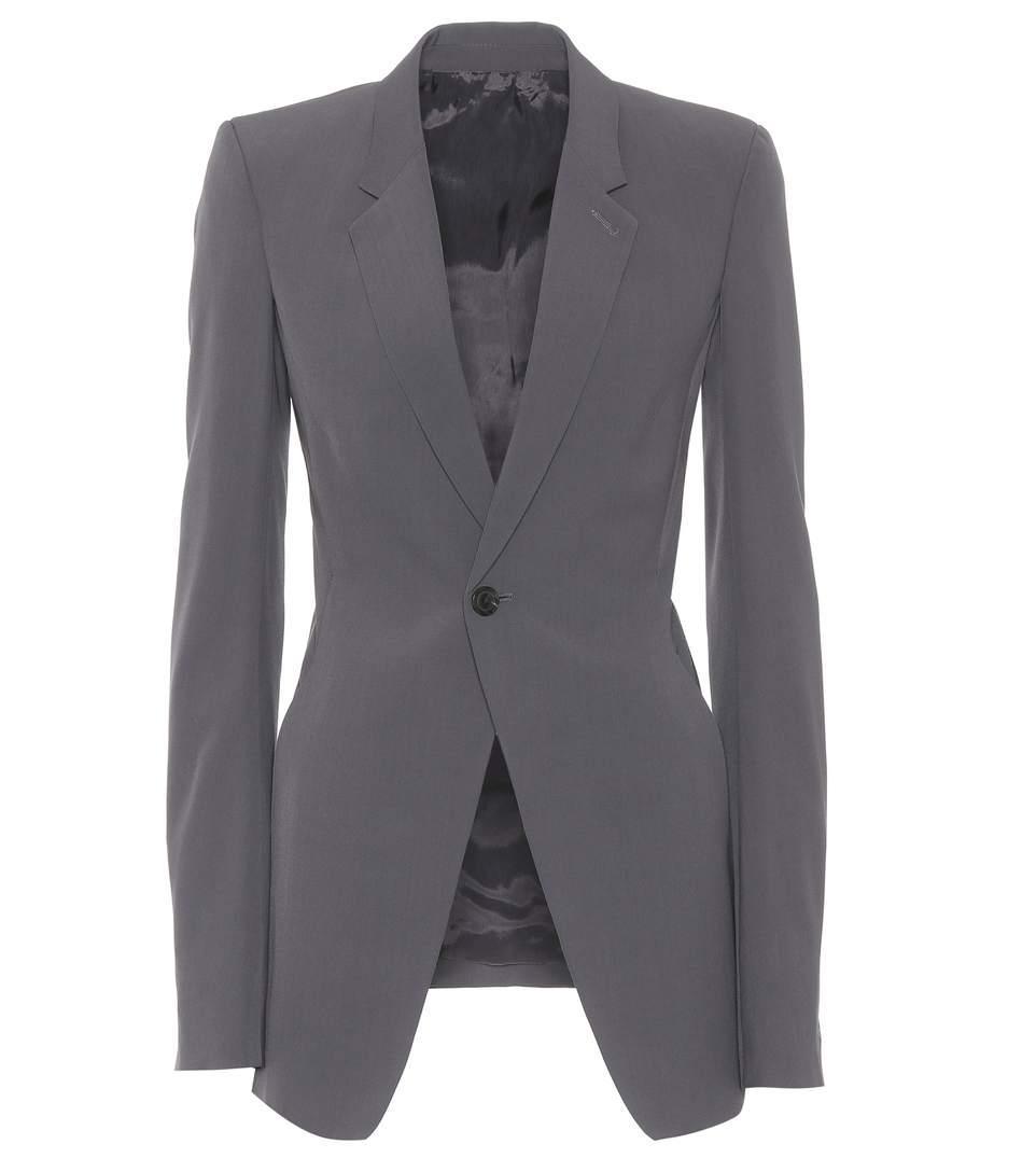 06cbe9b33 Wool-Blend Blazer in Grey