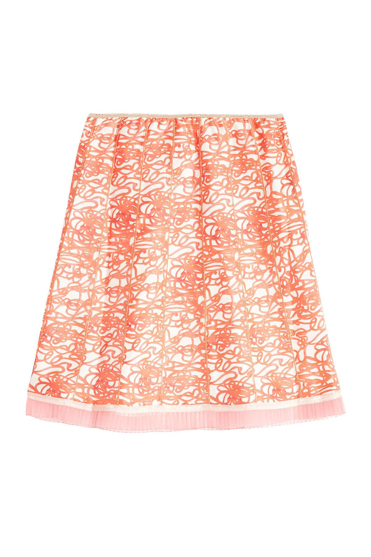 Marc Jacobs Printed Silk Skirt In Multicolored