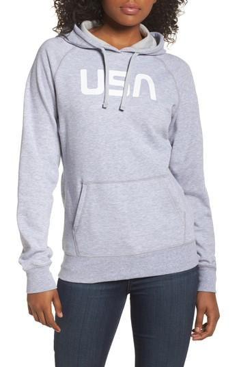 d907ea285 International Collection Usa Pullover Hoodie in Tnf Light Grey Heather