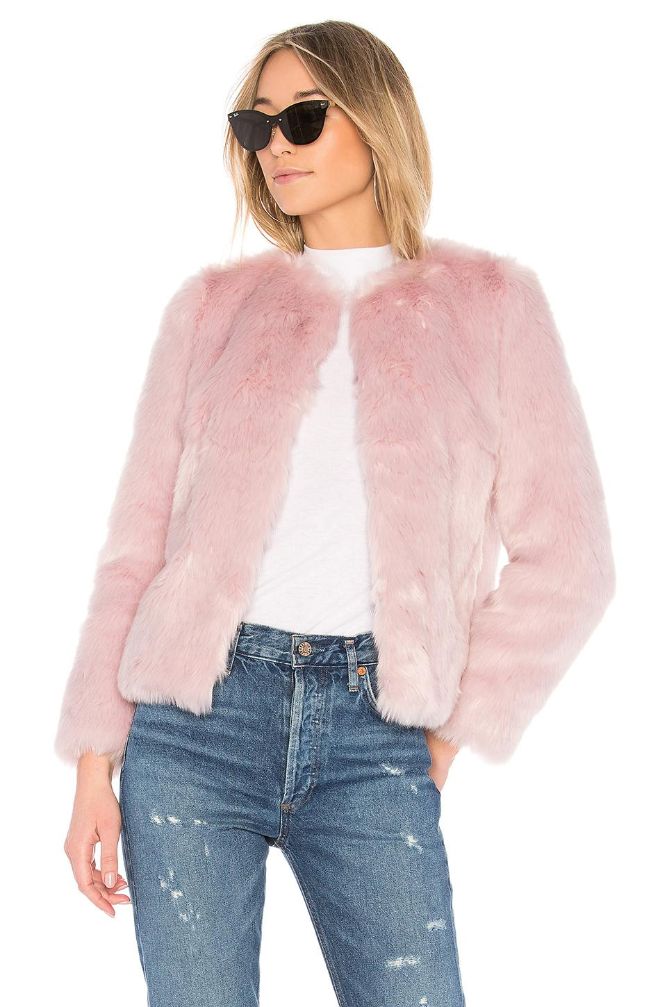 Eaves Jayce Coat In Pink
