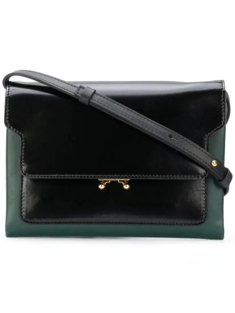 Marni Trunk Pochette Shoulder Bag - Green