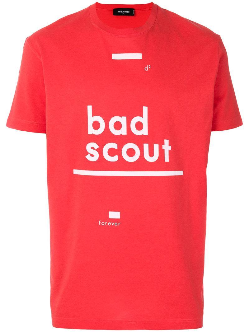 Dsquared2 Bad Scout Slogan Print T Modesens