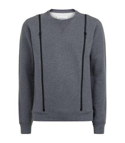 Maison Margiela Zip Detail Sweatshirt
