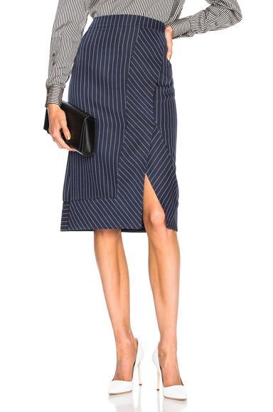 Altuzarra Jude Skirt In Blue,Stripes