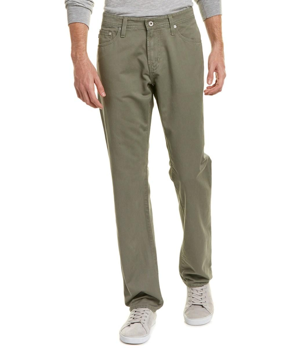 Ag The Graduate Cypress Green Tailored Leg In Olive