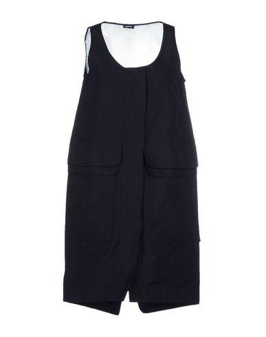 Jil Sander Short Dress In Dark Blue