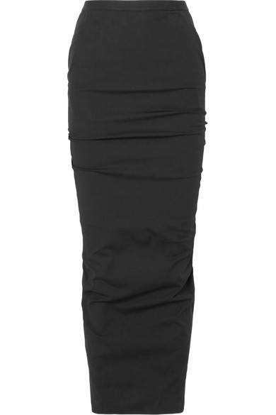 9859c5188 Rick Owens Stretch-Cotton Maxi Skirt In Black   ModeSens