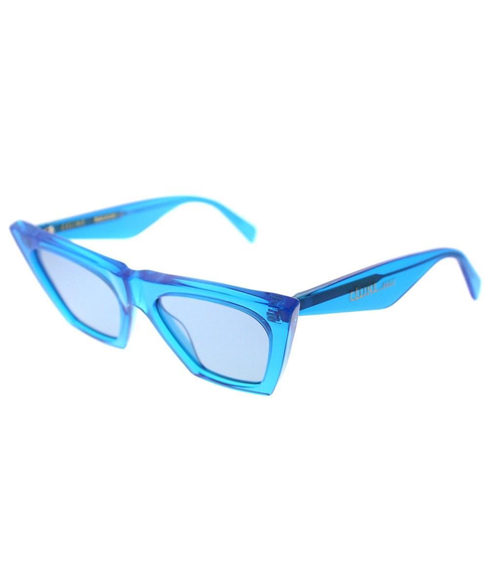 Celine Edge Cl 41468 Geg Transparent Blue Cat Eye Sunglasses