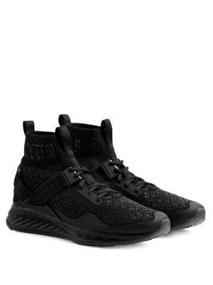 Puma X En Noir Suede Sneakers In Black