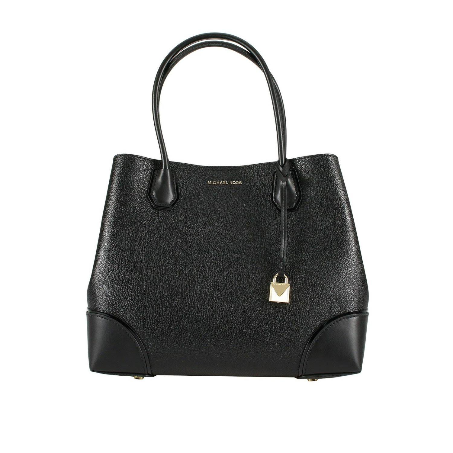 e8de8a823fc4 Michael Michael Kors Medium Mercer Gallery Leather Satchel - Black ...