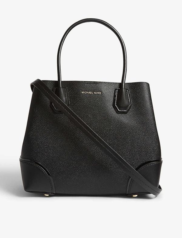 908a200b8 Michael Michael Kors Mercer Gallery Large Pebbled Snap Tote Bag In Black
