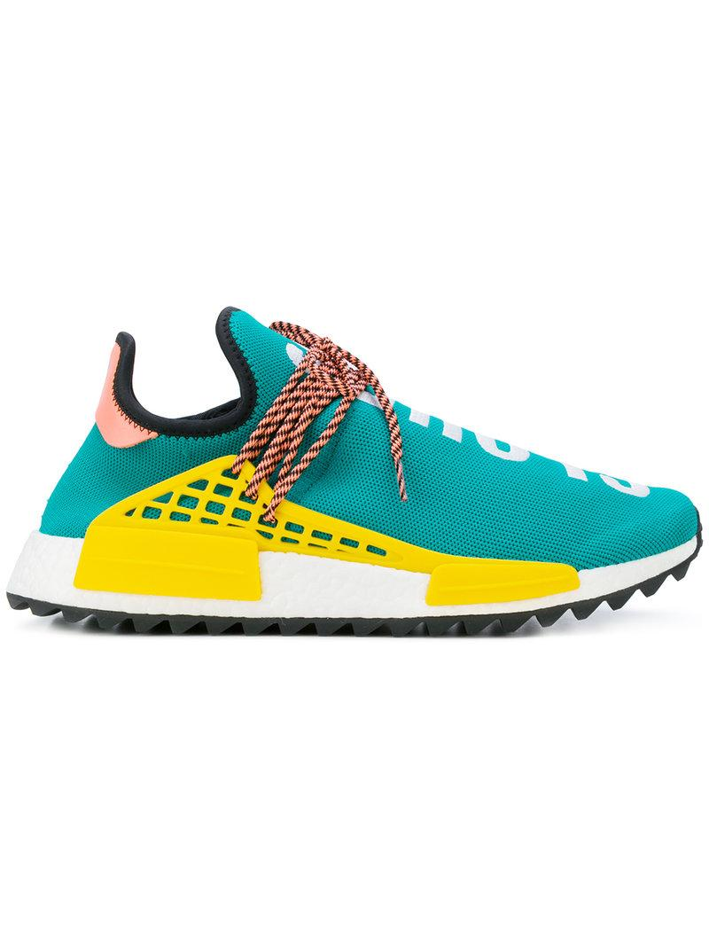 regarder dd3f0 3b86c Adidas X Pharrell Williams Hu Hiking Nmd_Tr Sneakers in Green