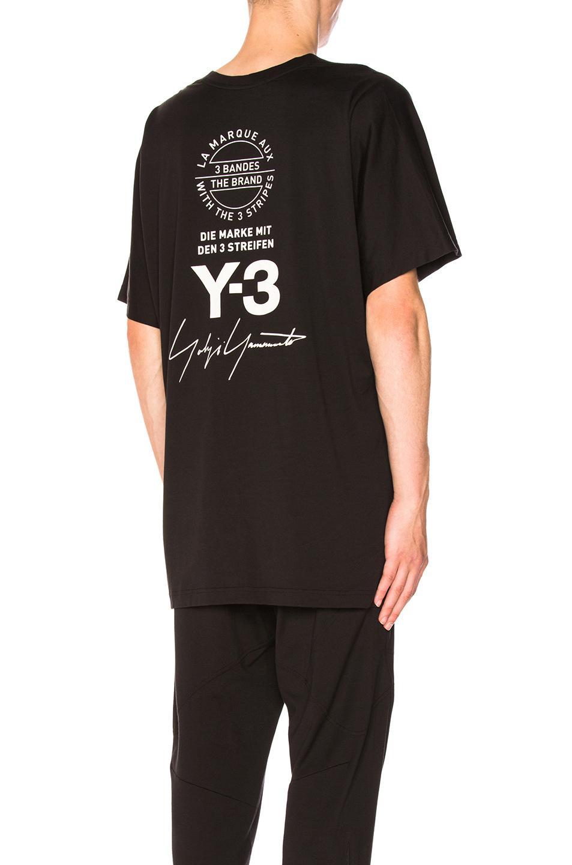 f2251ded2 Y-3 Street Crewneck Short Sleeve Tee In Black | ModeSens
