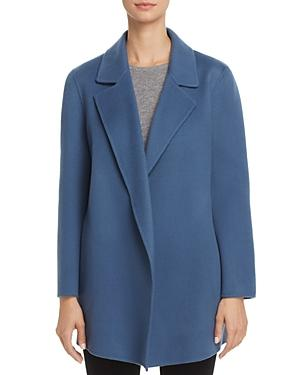 6775f299a8 Theory Clairene Double-Face Wool And Cashmere Coat In Dark Hydrangea ...