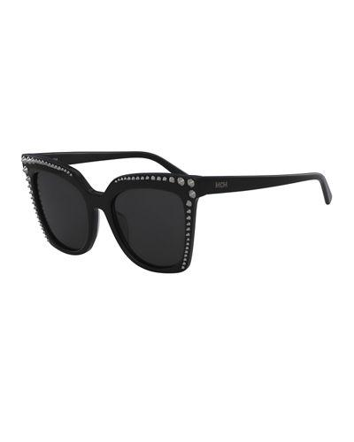 b8a068a36 Mcm Square Cat-Eye Sunglasses W/ Stud Detail In Black | ModeSens