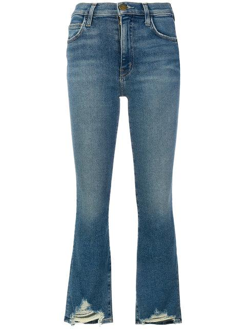 Current Elliott Flared Cropped Jeans In Blue