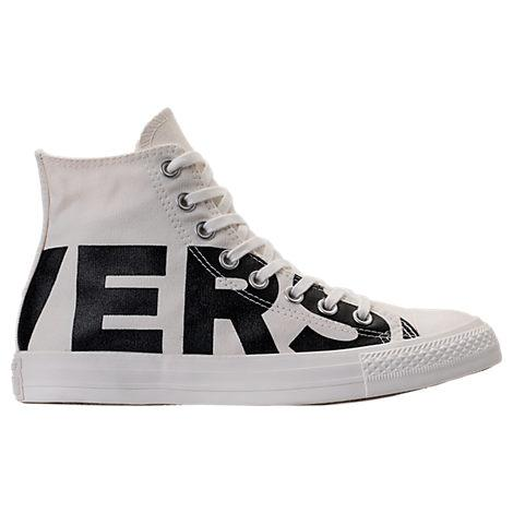 0b6a5353953852 Converse Men s Chuck Taylor All Star Wordmark High Top Casual Sneakers From  Finish Line In White