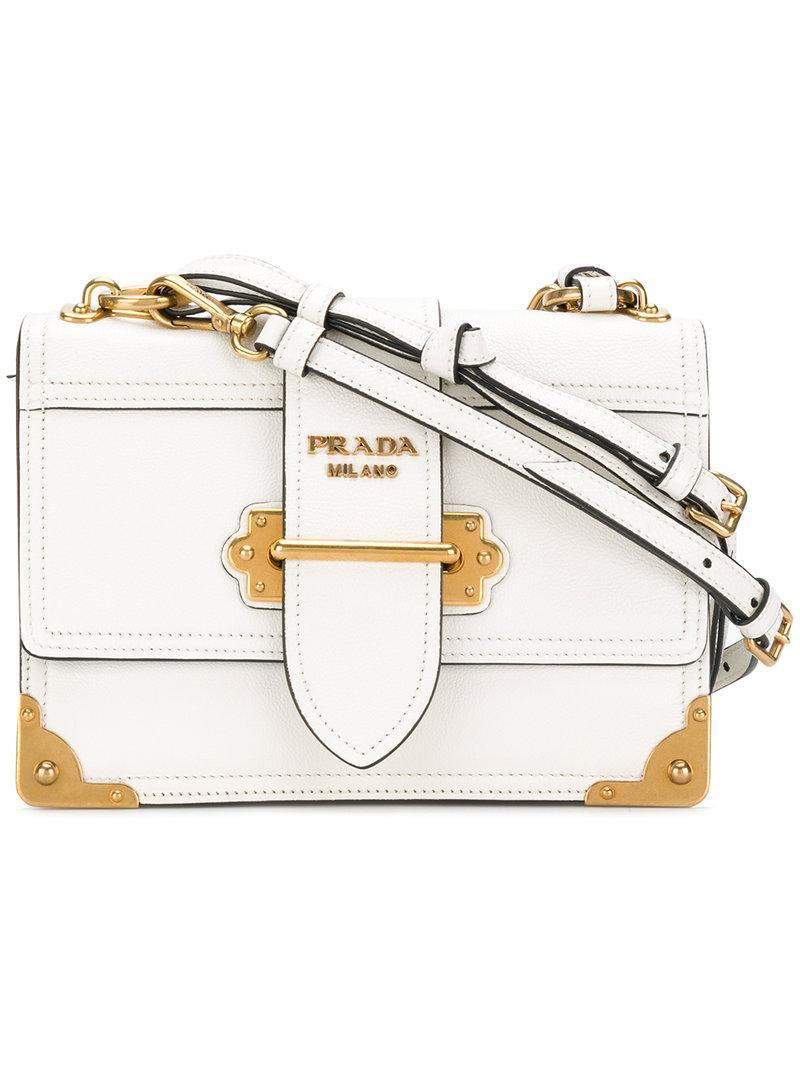 752ca0b21b Prada Cahier Shoulder Bag - White | ModeSens