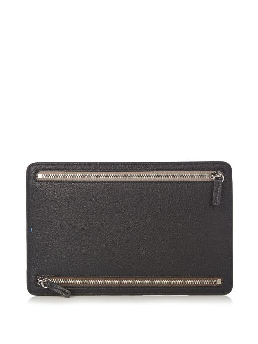 Smythson Burlington Grained-Leather Currency Wallet In Black