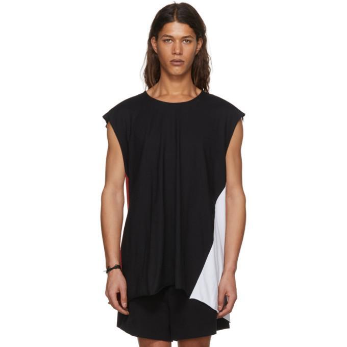 Ann Demeulemeester Black Colorblock T-Shirt