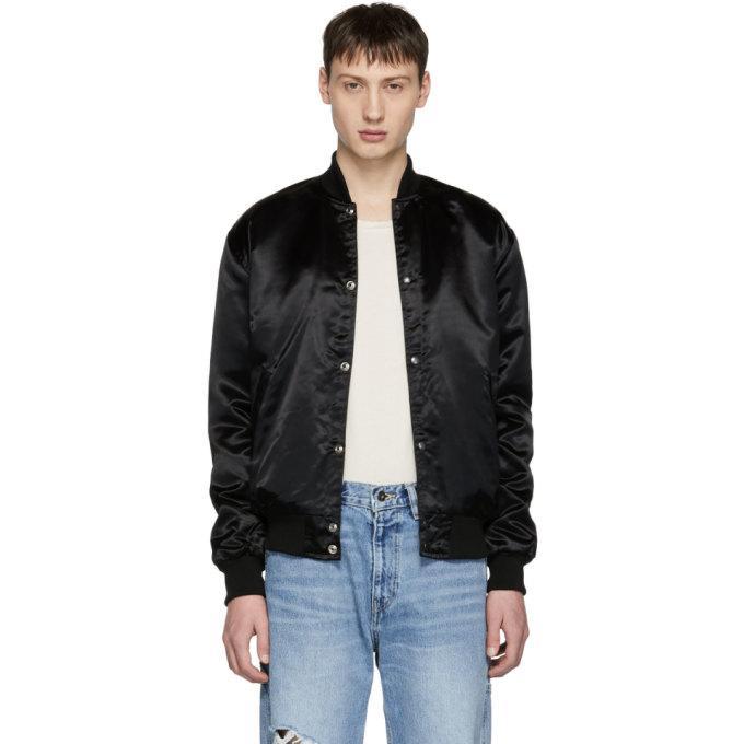 2dff83954 Black Essential Rhestarter Bomber Jacket