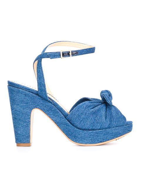 Charlotte Olympia 'Mansfield' Sandals In Blue