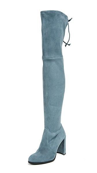 Stuart Weitzman Hiline Thigh High Boots In Denim
