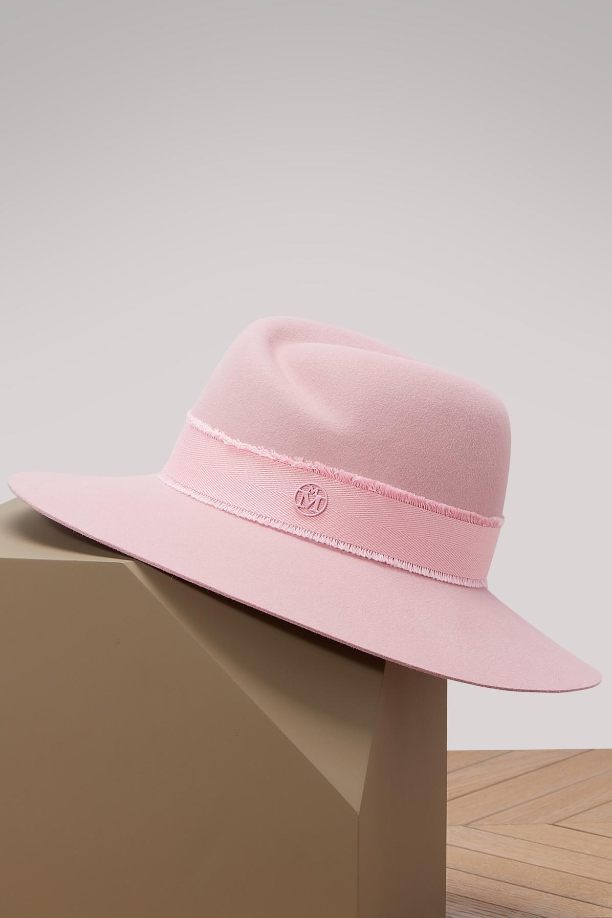 Maison Michel Virginie Hat In Happy Pink