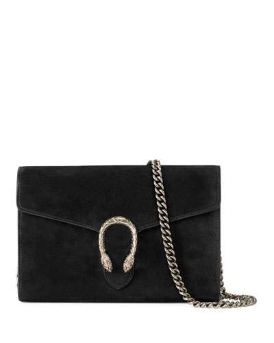 a4b94d6c100971 Gucci Dionysus Chain Wallet Mini Suede Shoulder Bag In Black | ModeSens