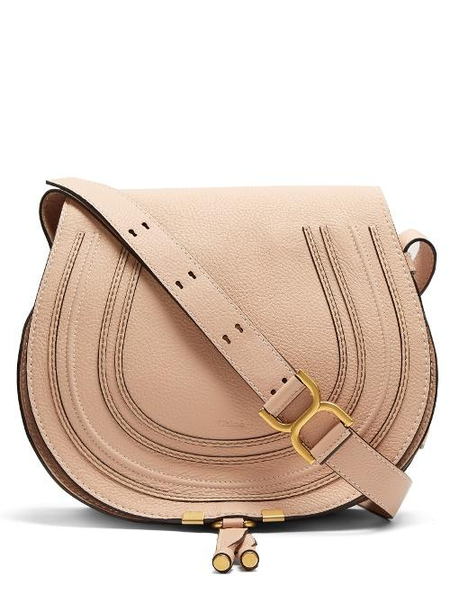 67971e87efe ChloÉ Marcie Medium Leather Cross-Body Bag In Light Pink | ModeSens