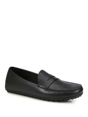 505311ac7 Gucci Kanye Leather Driving Shoes In Black | ModeSens
