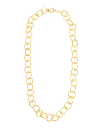 Stephanie Kantis Legend 24k Gold-plated Extra Long Circle-link Necklace