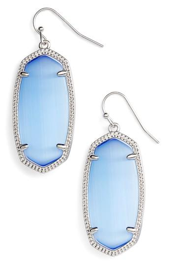 18514c586 Kendra Scott Elle Drop Earrings In Periwinkle Cats Eye/ Silver ...