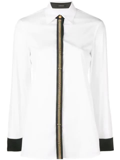 Versace Poplin Shirt In White