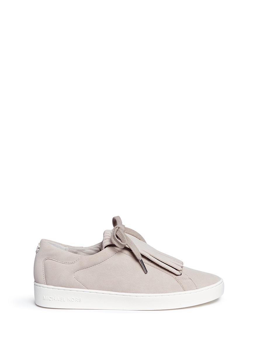cfdf747f679 Michael Kors  Keaton  Kiltie Flap Suede Sneakers
