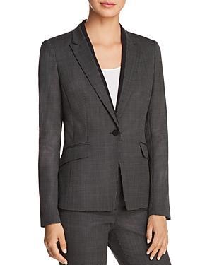 Boss Jeresa Check Stretch Wool Suit Jacket In Open Misc