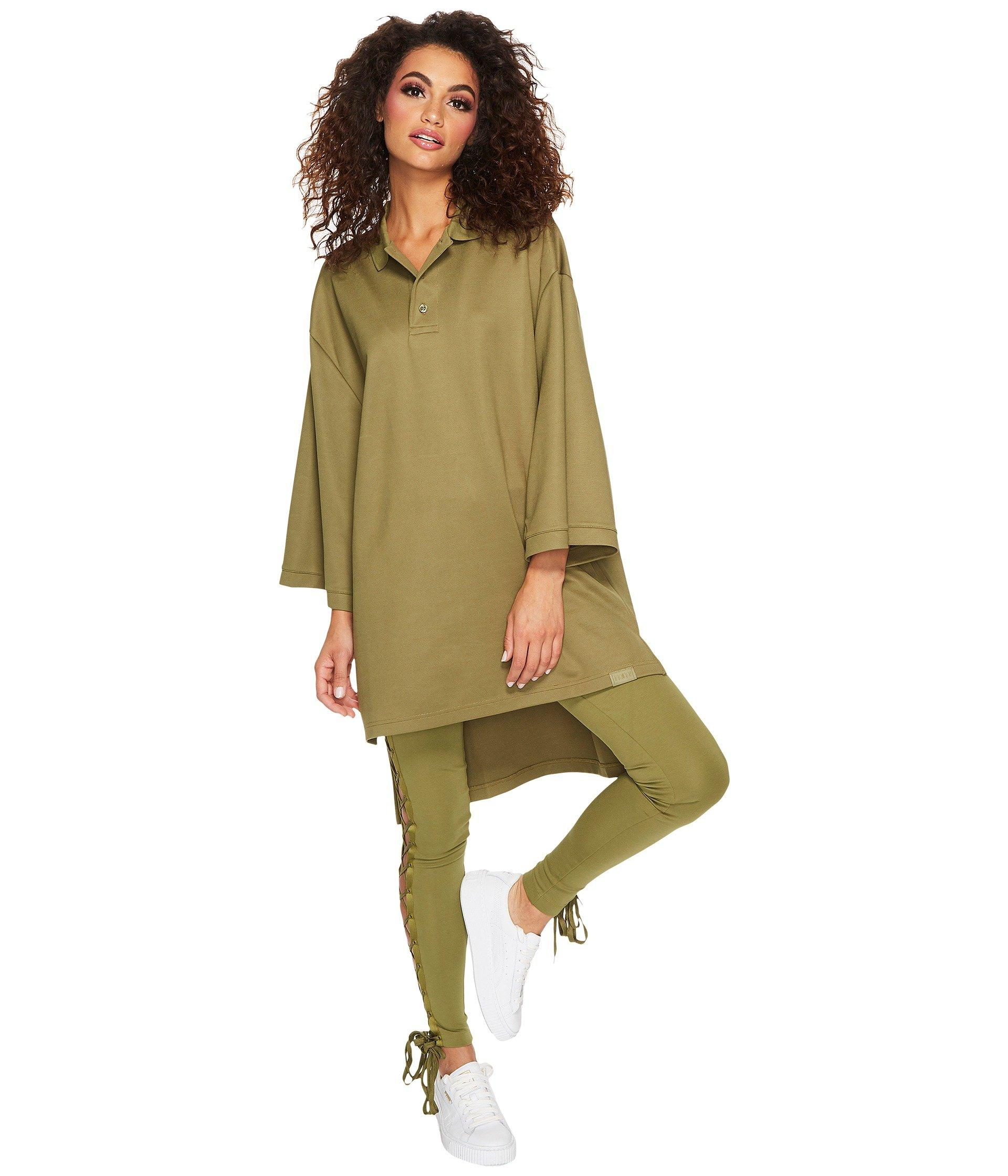 various colors e620b 9142e Fenty Oversize Polo in Olive Branch