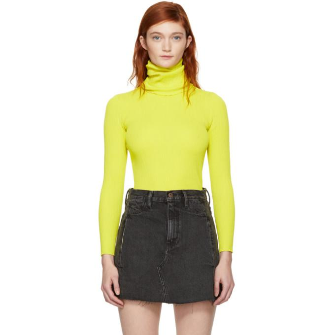 c9c90f2f4adcb7 Simon Miller Berto Ribbed-Knit Turtleneck Top In Chartreuse | ModeSens