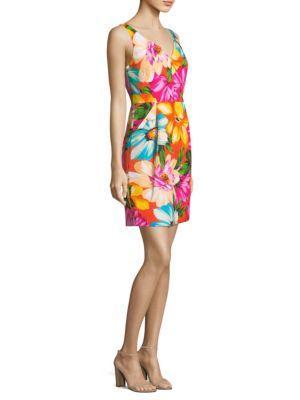 30a3a25c3b Milly Coco Floral Sheath Dress In Orange