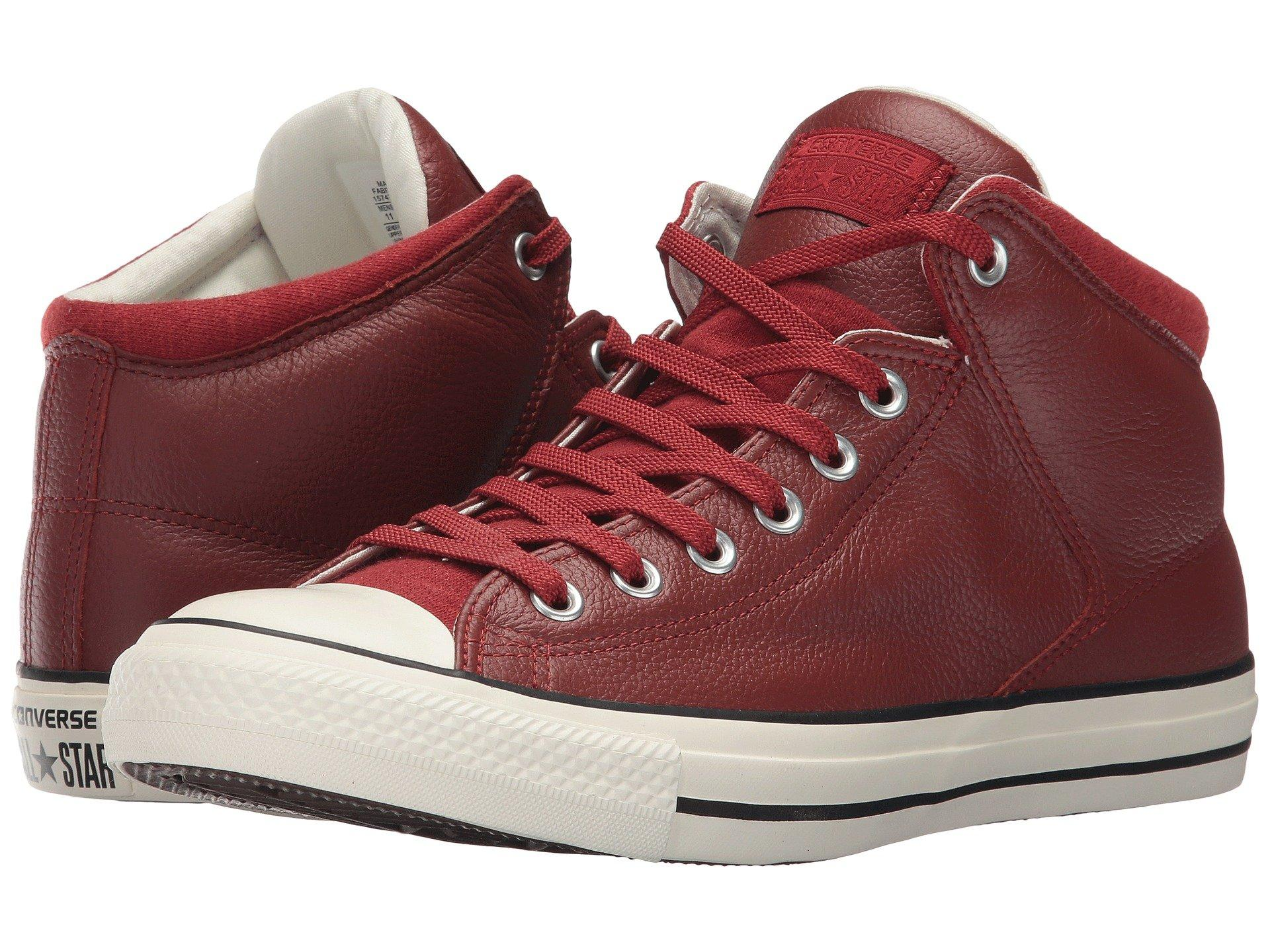 Converse Chuck Taylor All Star Street Hi - Tumbled Leather In Terra Red Terra  Red 143976dda