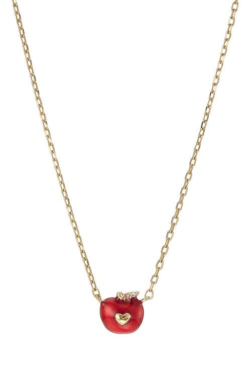 293f3b80e MARC JACOBS Red Single Apple Stud Earring. Marc Jacobs Apple Necklace With  Crystal Embellishment In 710 Gold