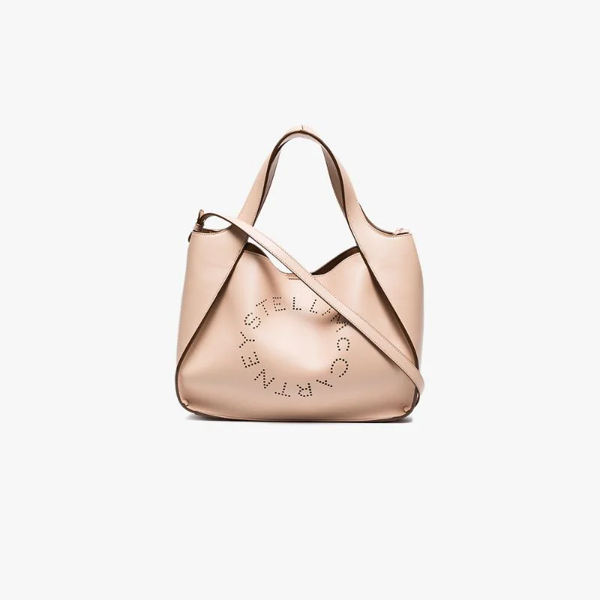 2d419d9fcb6b Stella Mccartney Medium Perforated Logo Faux Leather Tote - Pink In Neutrals