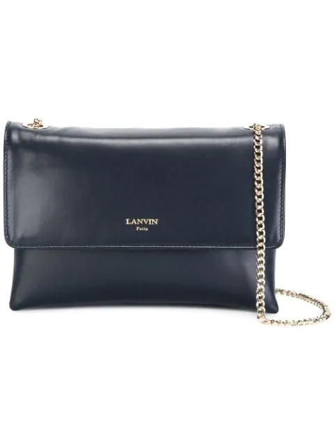 Lanvin Sugar Mini Leather Crossbody In Blue