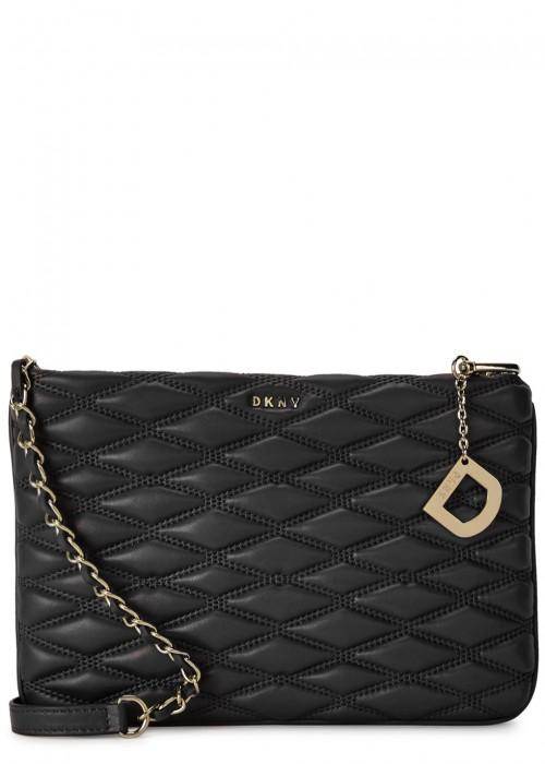 Dkny Black Quilted Leather Cross-Body Bag