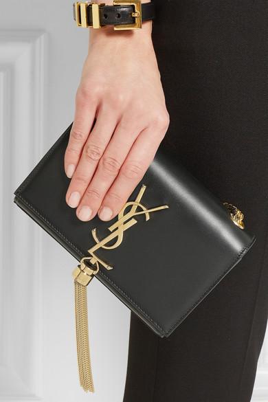 4e47f1096a70 SAINT LAURENT. Saint Laurent Medium Black Monogram Shoulder Bag