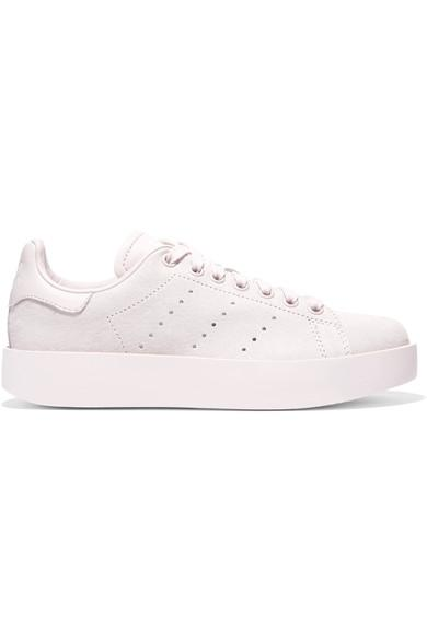 quite nice 90043 75528 Adidas Originals Stan Smith Snake Effect-Trimmed Leather Sneakers ...