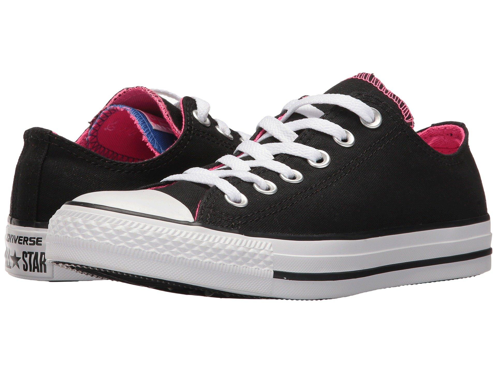 8b02073bef50 Converse Chuck Taylor All Star Double Tongue - Ox In Black Pink Pow White